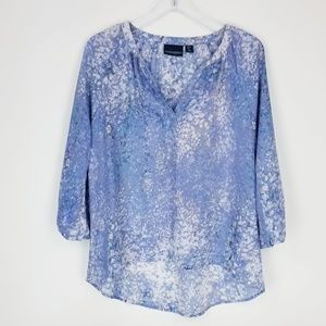 Cynthia Rowley Watercolor Blue Hi / Lo Top Small